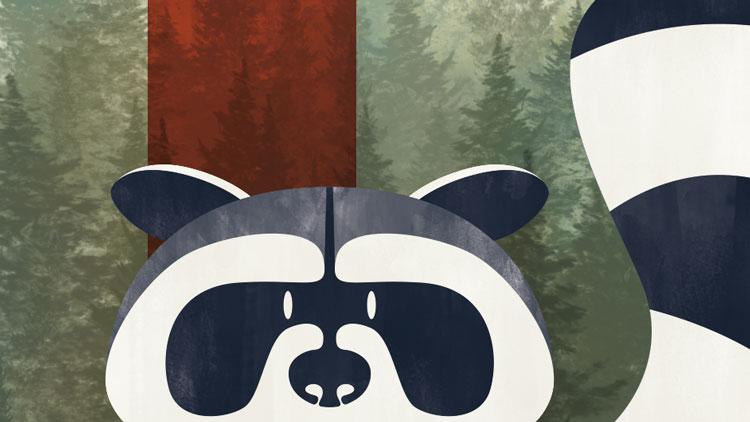 graphiste-guerande-saint-nazaire-la-baule-herbignac-44-raccoon-illustration-2
